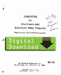 1988 - YELLOW SHEETS Tempers for Aluminum OL