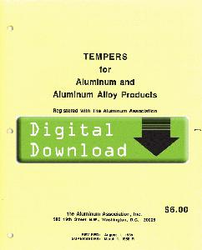 1989 - YELLOW SHEETS Tempers for Aluminum OL