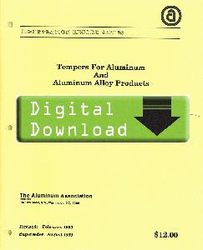 1995 - YELLOW SHEETS Tempers for Aluminum OL