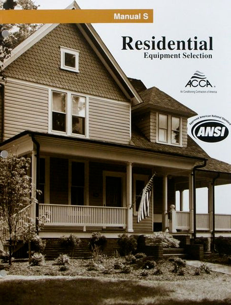 ACCA Manual S: Residential Equipment Selection