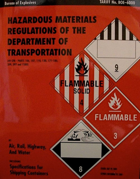 Hazardous Materials Regulations of The Department Of Transportation