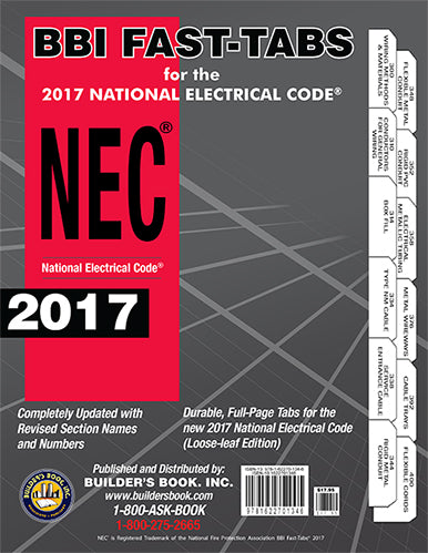 2017 National Electrical Code (NEC) Loose-leaf BBI Fast-Tabs