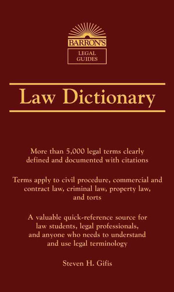 Barron's Legal Guides Law Dictionary 7th Edition