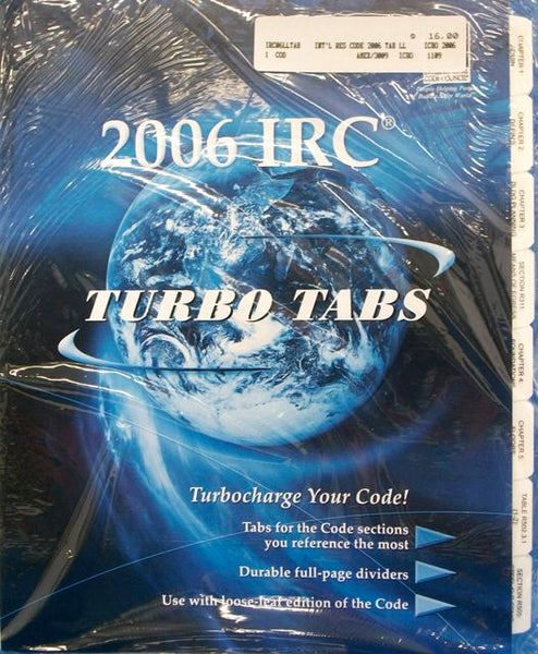 2006 IRC Turbo Tabs (full sheet dividers)