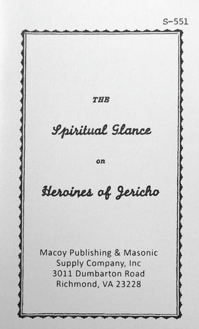 The Spiritual Glance of Heroines of Jericho