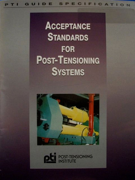 Acceptance Standards For Post-Tensioning Systems, PDF
