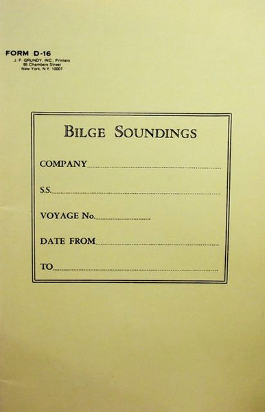 Bilge Soundings