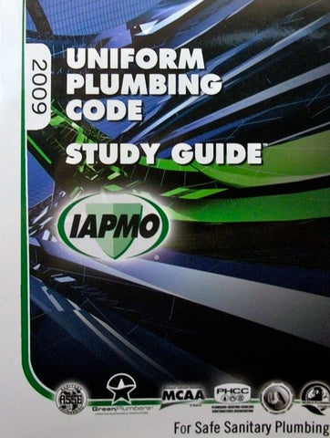 Uniform Plumbing Code 2009 Study Guide