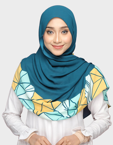 Abstract Wide Shawl In Aisyah