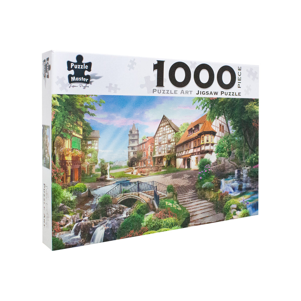 Lake Village 1000 Piece Jigsaw Puzzle