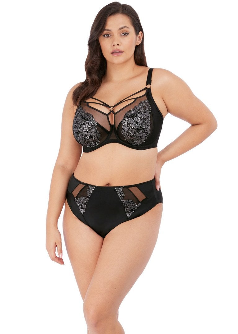 Elomi Eugenie Black High Leg Brief - EL4475