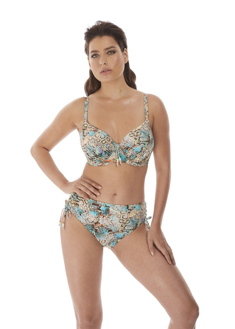 Fantasie Manila Iced Aqua Uw Gathered Full Cup Bikini Top