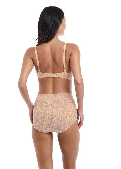 Wacoal Halo Lace Nude High Waisted Brief