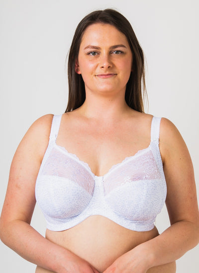 Elomi Morgan White Uw Banded Bra - Stretch