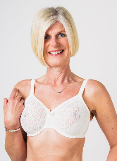 Wacoal Halo Lace Moulded Underwired Bra-Ivory