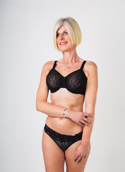 Wacoal Halo Lace Moulded Underwired Bra Black
