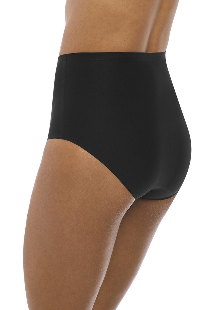 Fantasie Smoothease Black Invisible Stretch Full Brief