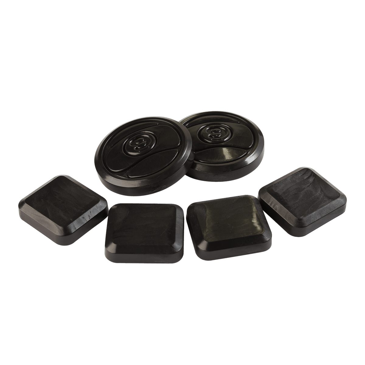 9 Ball & Finger Pucks Black