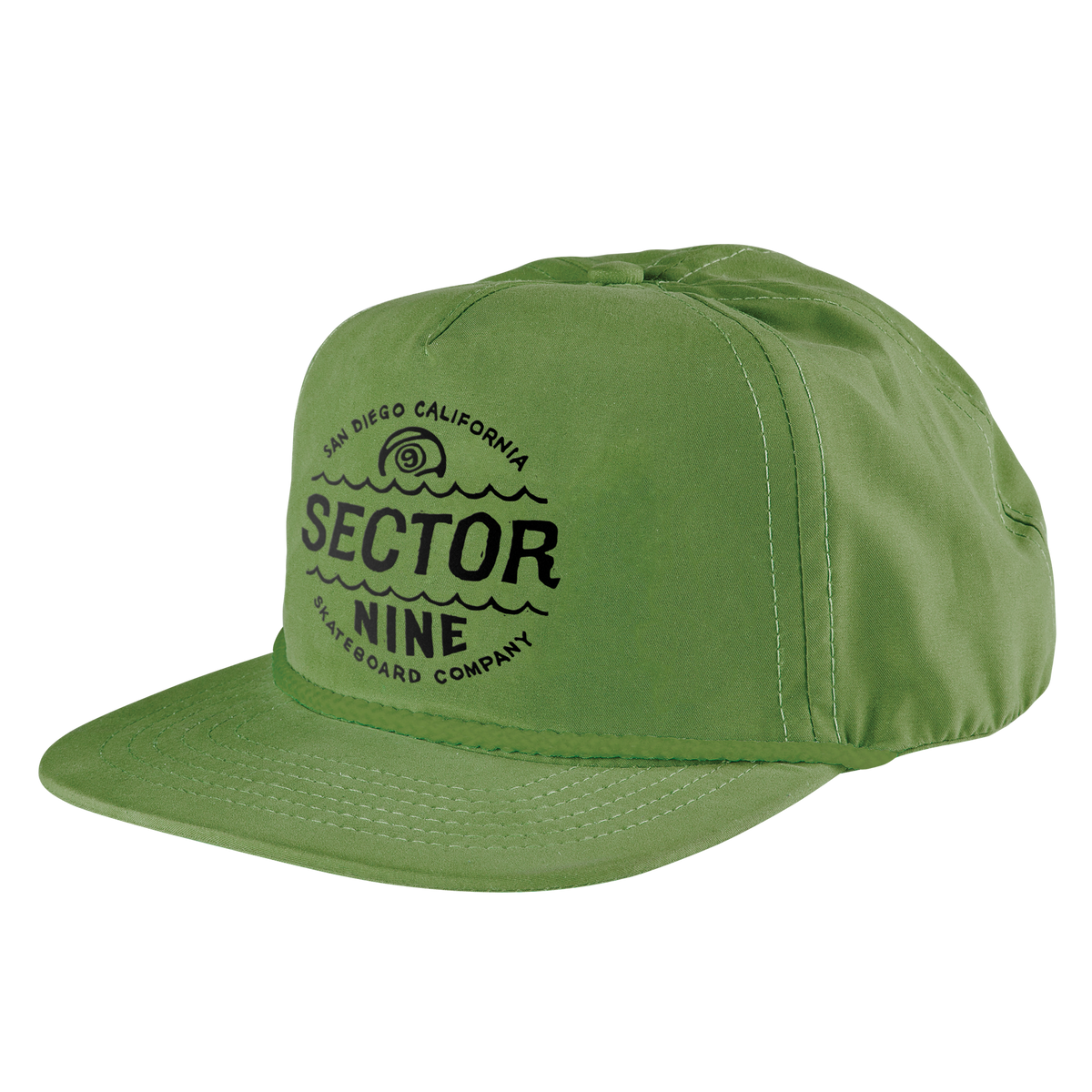 sector-nine-green-cyclone-snapback-hat