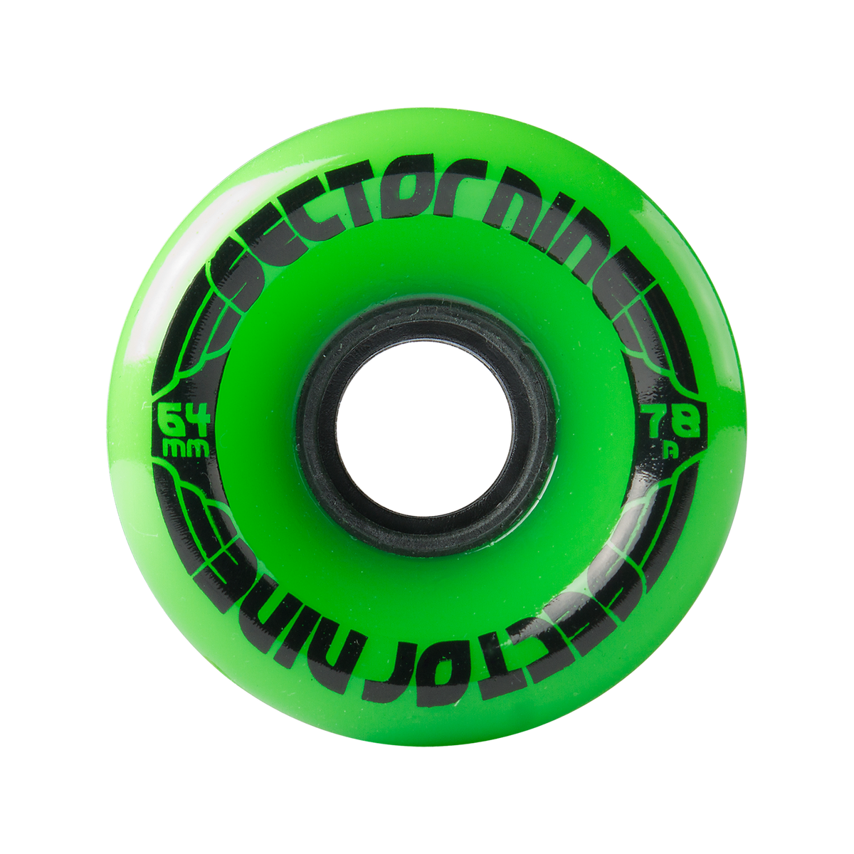 64MM 78A NINEBALLS GREEN SKATE WHEELS