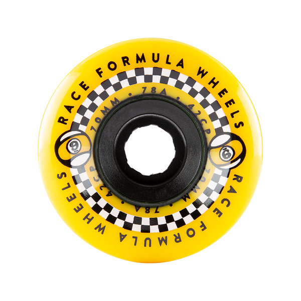 70mm 78a Race Formula Wheels Yellow