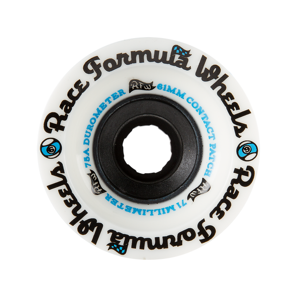 71mm 75a Race Formula Wheels White