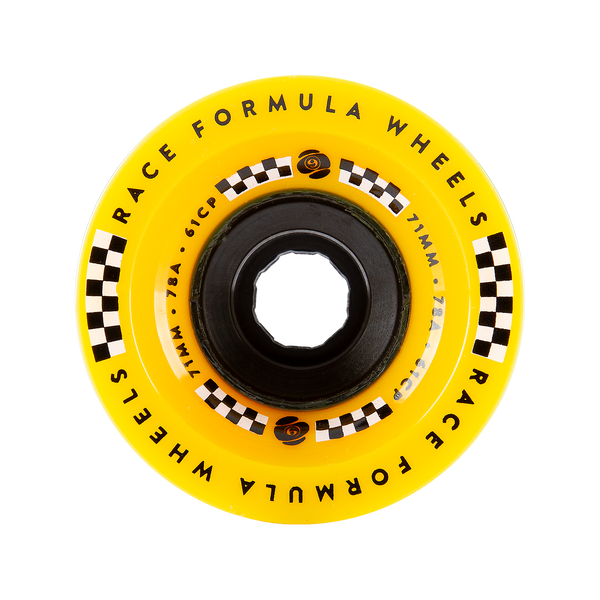 71mm 78a Race Formula Wheels Yellow