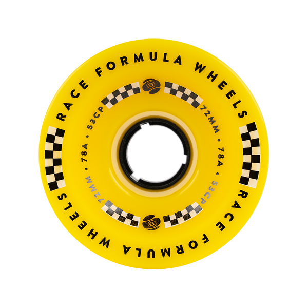 72mm 78a Race Formula Wheels Yellow