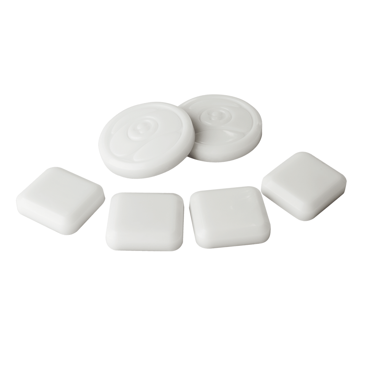 6 PUCK PACK - WHITE