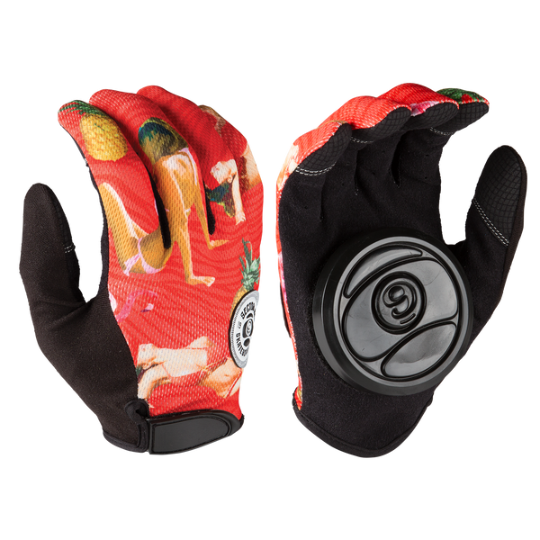 RUSH SLIDE GLOVES - RED