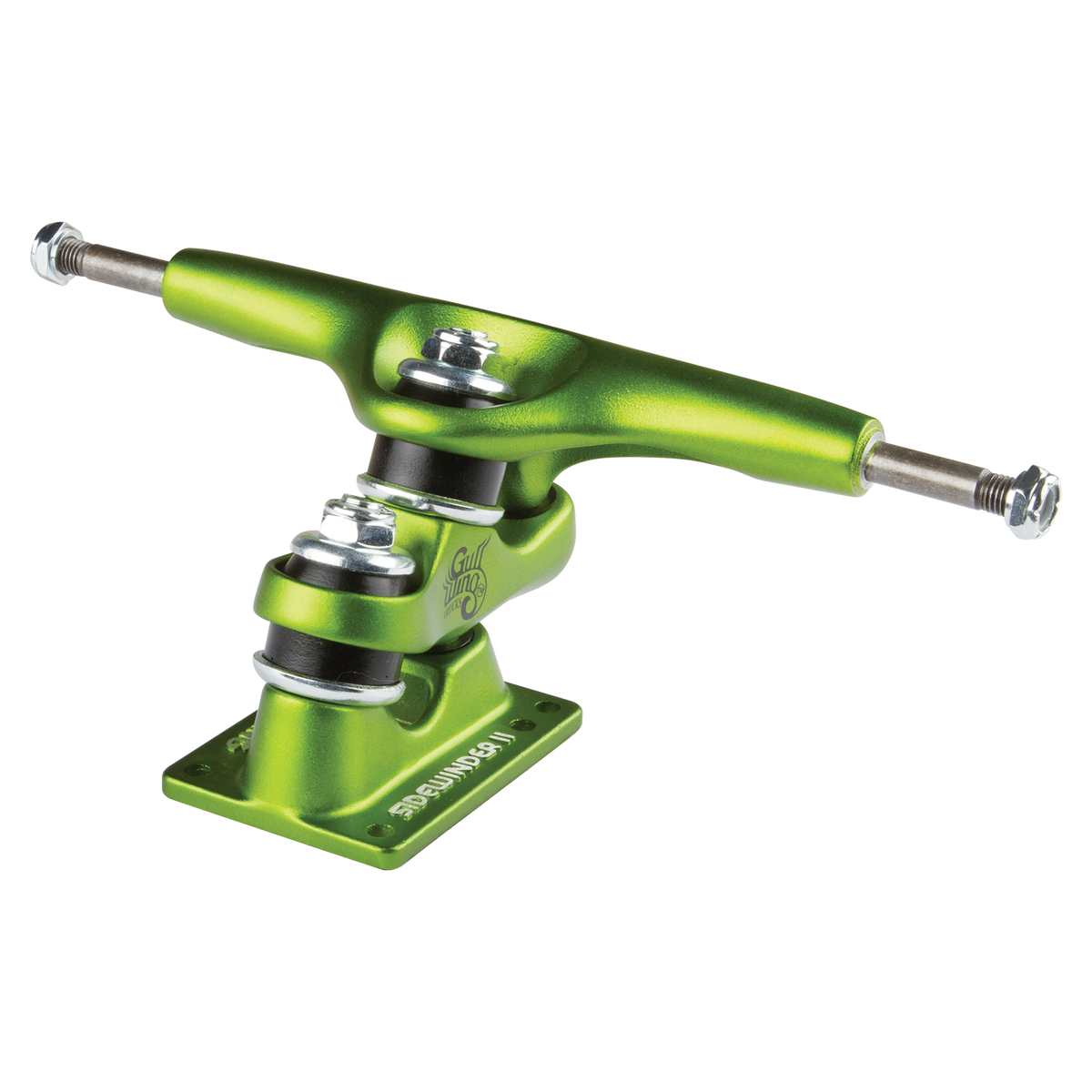 "9.0"" Gullwing Sidewinder II Lime Single Truck"