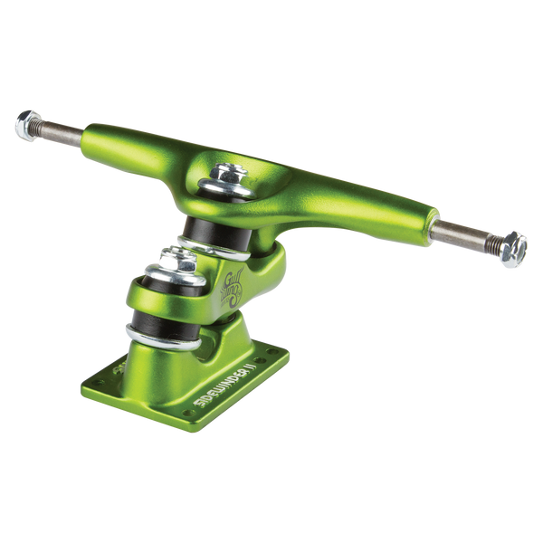 "10.0"" Gullwing Sidewinder II Lime Single Truck"