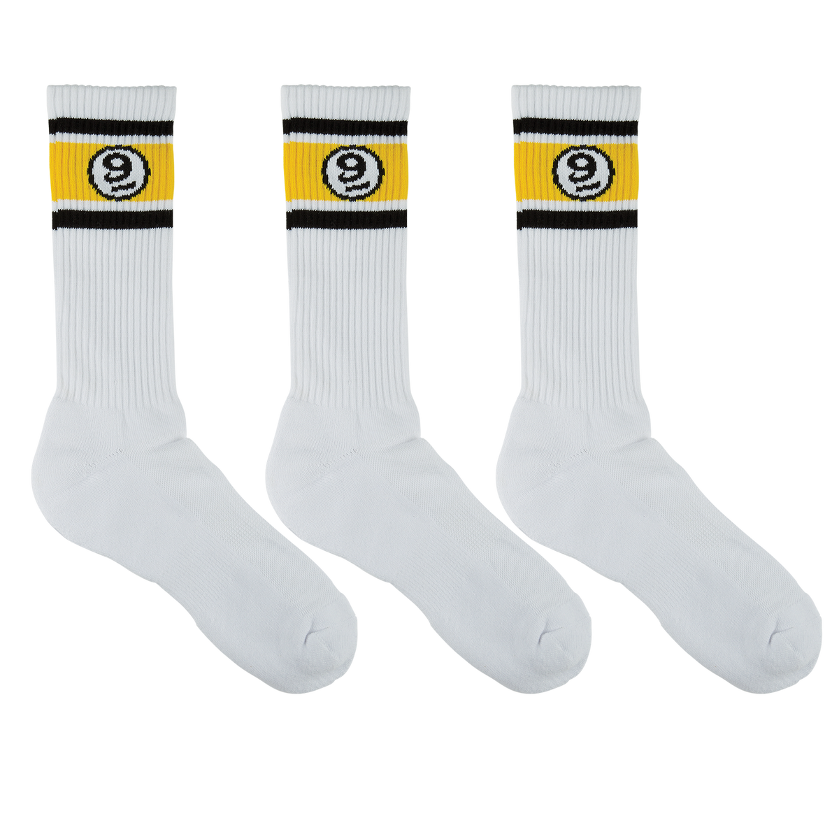 VINTAGE SOCK 3 PACK - WHITE