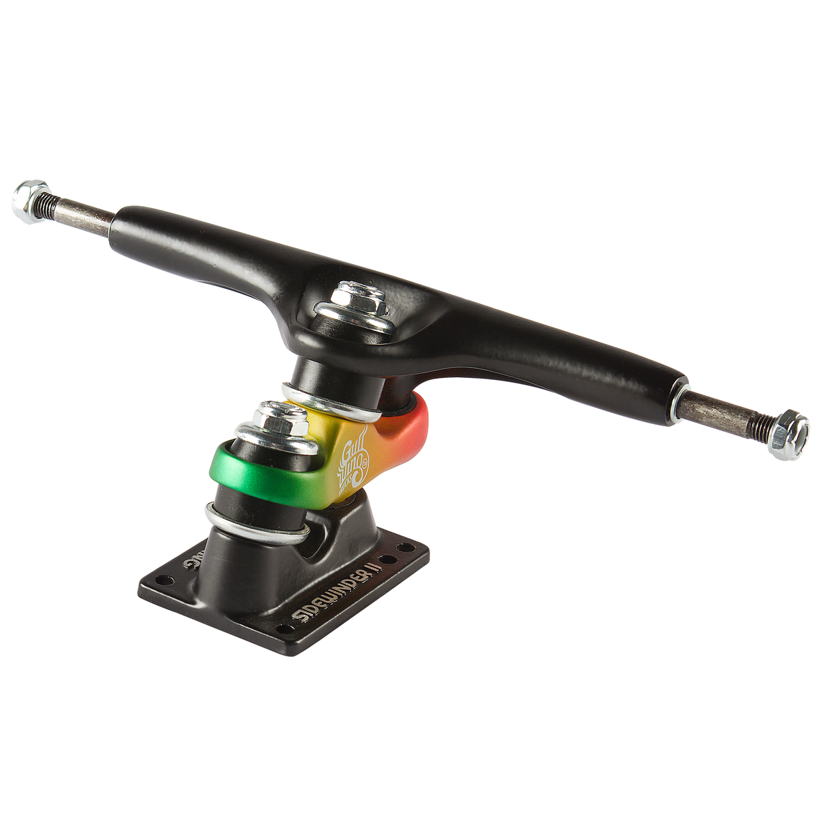 "10.0"" GULLWING SIDEWINDER II RASTA SINGLE SKATE TRUCKS"