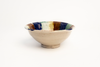 Drip Clay Bowl Artisanal Handmade Gray Colors Colorful