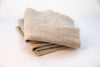 Beige Solid Throw Wrap Blanket Wool Artisanal