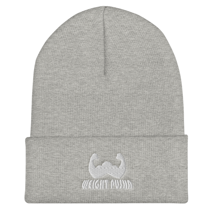 Weight Pusha Beanie (Grey/White)