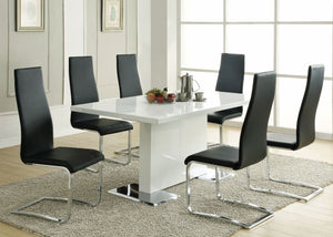 Gloss Dining Room Set - Black