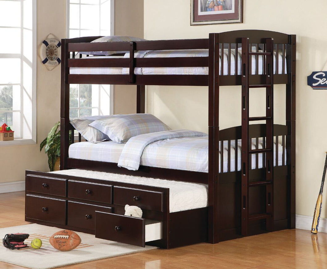 Konoro Twin/Twin Bunk Bed with Trundle and Storage