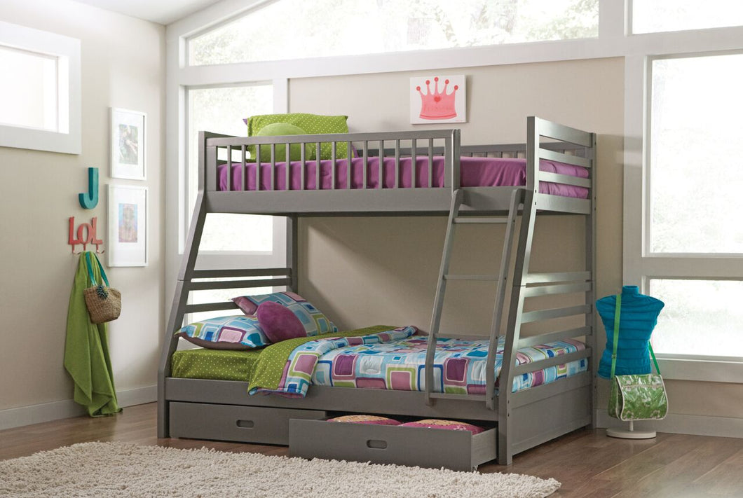 Lyme Twin/Full Bunk Bed - Grey