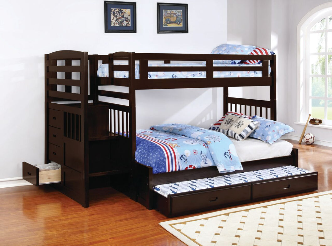 Kent Twin/Full Bunk Bed with Trundle and Storage