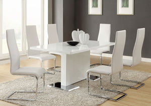 Gloss Dining Room Set - White
