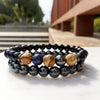 Super Warrio Hematite Bracelet Set 2pcs