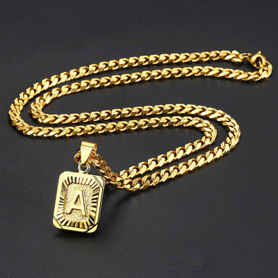 Golden Initial Necklace