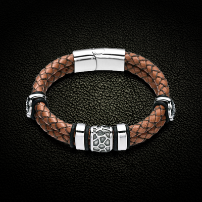 Leopard Pride Leather Bracelet