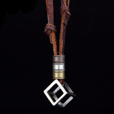 Genuine Punk Geometric Pendant Necklace