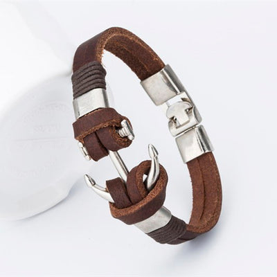Anchor of Hope Leather Bracelet