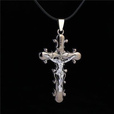Gothic Crucifix Faith Pendant Necklace
