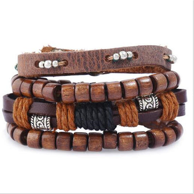 Freedom Boho Hippie Multi-layer Bracelet Set (4pcs)