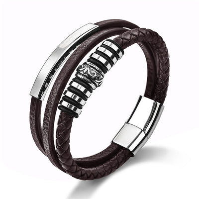 Hephaestus Leather Bracelet